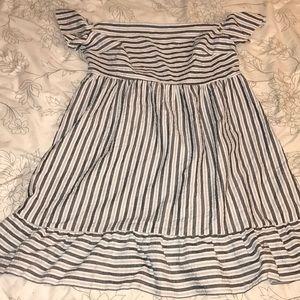 ASOS off the shoulder striped dress